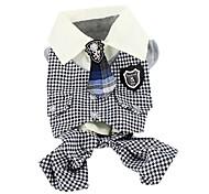 stile casual con giacca cravatta per i cani (XS-XL, bianco)