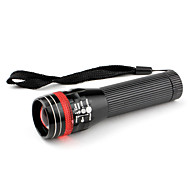 Zoom 3-Mode Aluminum Alloy LED Flashlight (1xAA, Black)