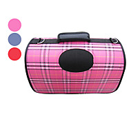Scottish Plaid Portable Outdoor Dog Cat Carrier For Pets (37 x 24 x 23cm, Assorted Colors)