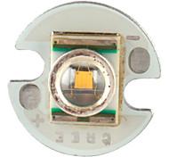 diy cree 3w 90lm 2800-3200k luz branca quente levou emissor com base de alumínio (3.2-3.6V)