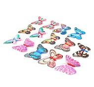 doble capa decorativa magnético mariposa imán de nevera (color al azar)