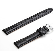Unisex Genuine Leather Watch Strap 14MM(Black)