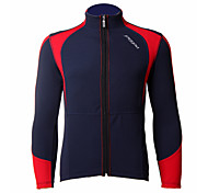 JAGGAD Cycling Tops / Jacket Men's Bike Wearable / Windproof / Thermal / Warm Long Sleeve Stretchy Polyester / Coolmax Patchwork BlueS /