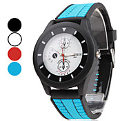 Unisex  Rubber Analog Quartz Wrist Watch (Assorted Colors)