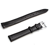 Unisex PU Leather Watch Strap 14MM(Black)