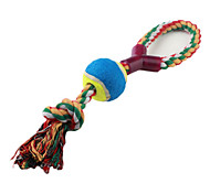 Tennis Ball with Braided Rope Toy for Dogs (30 x 8cm,Pink,Blue,Black,White)
