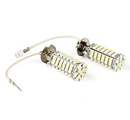 H3 3528 SMD 102-LED White Fog Lights for Car (DC 12V, 2-Pack)