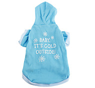 Dog Hoodie Blue Spring/Fall Letter & Number