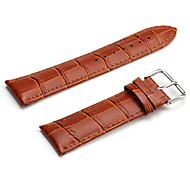 Unisex Genuine Leather Watch Strap 24MM(Brown) Cool Watch Unique Watch