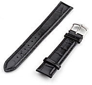 Unisex Genuine Leather Watch Strap 22MM (Black)