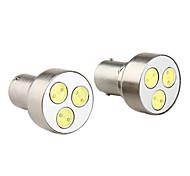 1156 3W 5050 SMD 3-LED White Light Bulb for Car Turning Signal Lamps (2-Pack, DV 12V)