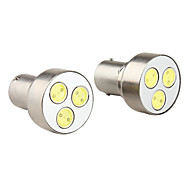 1156 3w 5050 SMD 3-LED-Weißlicht-Lampe für Auto Blinker-Lampen (2-pack, dv 12v)