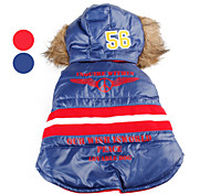 Number 56 Warm Quilted Hooded Jacket for Dogs (XS-XL, Assorted Colors)