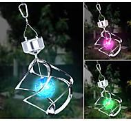 Solar LED Color Changing Saturn Wind Spinner Hanging Spiral Light
