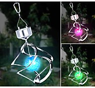 Solar LED Cor Mudar Saturno Spinner Vento Hanging Luz Espiral