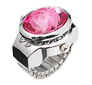 Charming Alloy Flower Design Adjustable Ring Watch(More Colors)