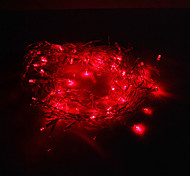 Festival Decoratie 120-LED 8-Mode Red Light Icicle Lampen voor Christmas Party (220V)