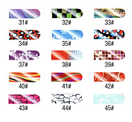 16 PCS Lovely Pattern Nail Foil Art Full Cover Stickers Manicure