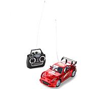 Una y veinticuatro de control de radio del coche de carreras (gris / rojo)