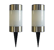 Solar Led Colorful Light Garden Path Marker Mini Bollard Patio Lamp (2-Pack)