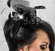 Gorgeous Black Net With Feather Women's Fascinators
