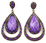 speziellen Wasser-Drop-Stil retro Ohrringe für Frauen (lila)