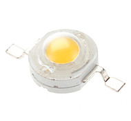 1W 80-90lm 2850-3050K Warm White emissores de luz de LED (3-3.2V, 20-Pack)