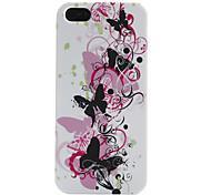 Schmetterling und Blumenmuster weiche Tasche für iPhone 5/5s