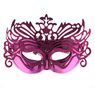 Venetian Crown Top Hollow Half Mask for Masquerade Party (Random Color)
