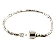DIY adding beads bracelet silver plated