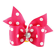 Cat Dog Hair Accessories Hair Bow Pink Dog Clothes Summer Spring/Fall Bowknot Birthday Holiday