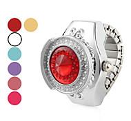 Damen Halbkreis Alloy Analog Quarz Ring Watch (verschiedene Farben)