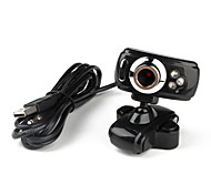3 LED de 5,0 megapíxeles USB 2.0 Clip-on PC cámara webcam con micrófono