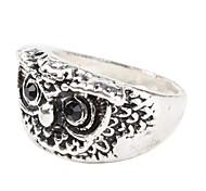 forma coruja anel de placa lasca