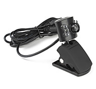 6 LED 5.0 ​​Megapixel USB 2.0 Clip-on PC Webcam con microfono