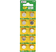 GP LR54 189 Cell Button Batteries (1.5V, 10-Pack)