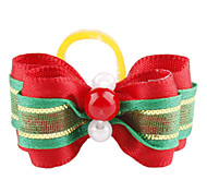 Green Ribbon Style Tiny Rubber Band Hair Bow for Dogs Cats