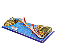 20 Pieces DIY Architecture 3D Puzzle U.S.A Golden Gate Bridge (difficulty 4 of 5)