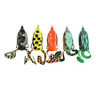 Snakehead Frog Water Surface Plastic Fishing Lure (1-Piece, 55mm, 10g, Assorted Color)