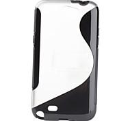 S-Shape Soft Case con soporte para Samsung Galaxy N7100 Nota2