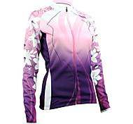 Santic Warm Keeping Women's Long-Sleeve Cycling Jersey Suits with Fleece Side