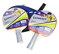 LENWAVE Wooden Short Handle Table Tennis Bats (1 pcs)