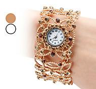 femmes en alliage montre analogique bracelet à quartz (couleurs assorties)