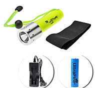 UltraFire Diving 5-Mode Cree XM-L T6 LED Flashlight Set (700LM, 1x18650)