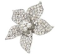 Cinq feuille fleur Métal Anneau entièrement réglable bijoux