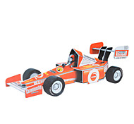 DIY Plastic + Paper Pull and Go F1 Racing Car 3D Puzzle (40pcs, difficulty 4 of 5)
