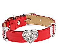 réglable strass amour collier de style u pour chiens (couleur assortie, le cou: 15-25cm/5.9-9.8inch)