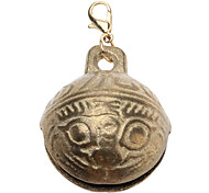Large Tiger Head Style Bell Collar Charms for Dogs Cats