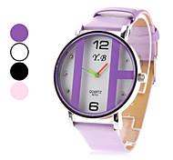Новая женская ПУ аналоговые кварцевые наручные часы (ассорти)