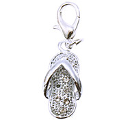Dog tags Rhinestone Decorated Little Slipper Style Collar Charm for Dogs Cats